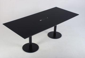 Mødebord sort nano laminat