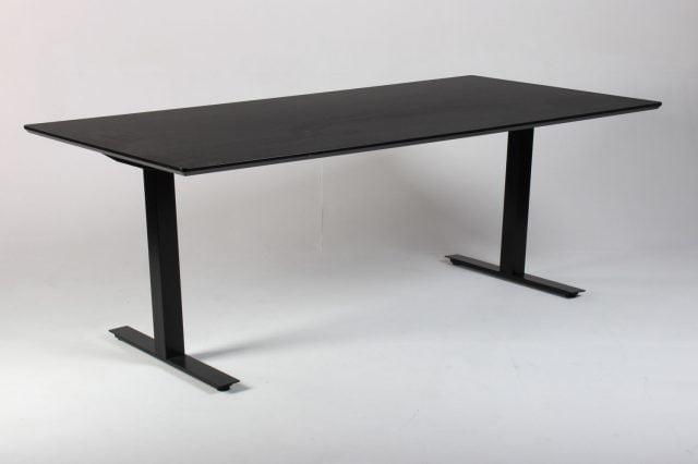 Mødebord sort linoleum