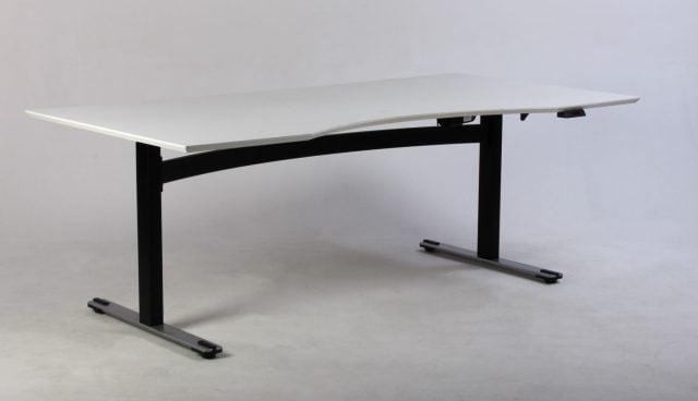 Stort hvidt Dencon hæve sænkebord