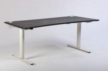 Hæve sænkebord med sort bordplade