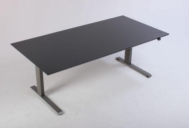 SIS hæve sænkebord 180 cm. antracitgrå laminat