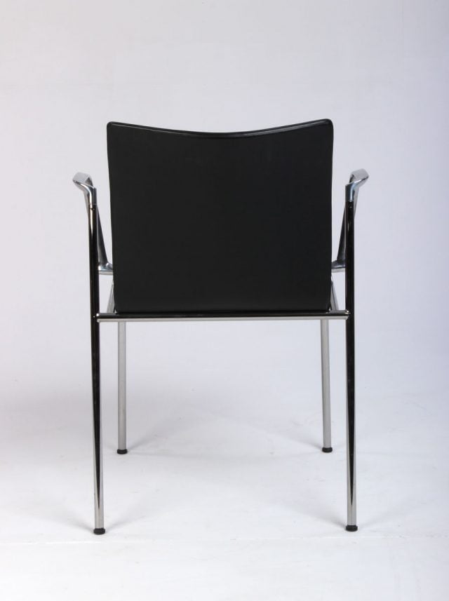 Engelbrechts Chairik konferencestol i sort læder