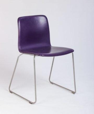 Paustian stol i læder