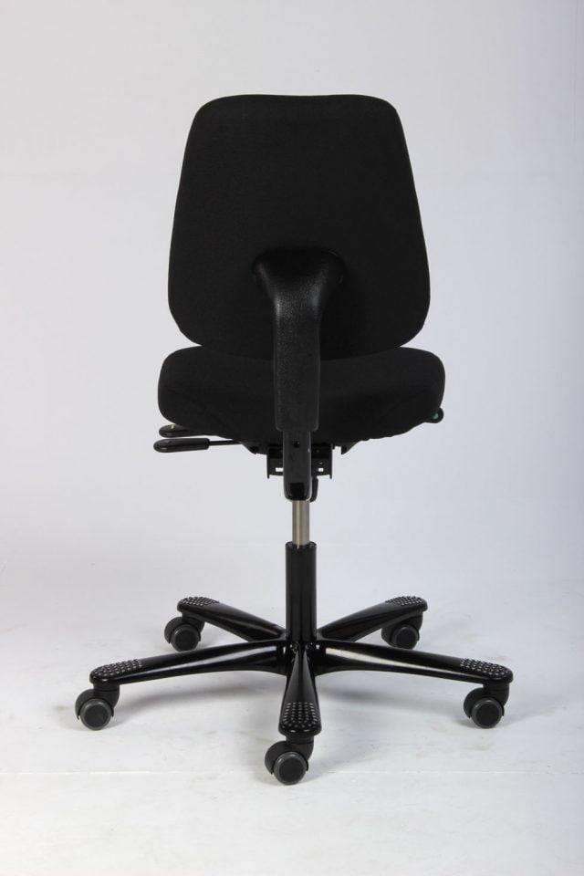 Håg Credo kontorstol nypolstret i sort extreme