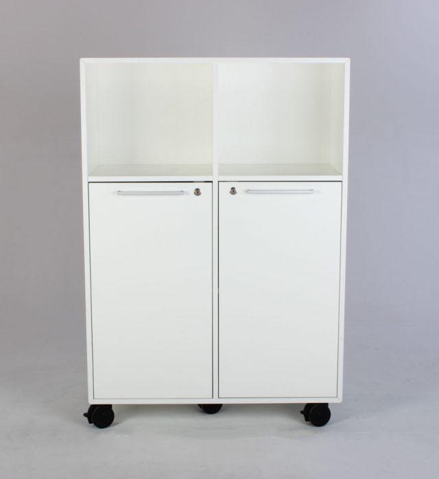 kontorskab med låger hvid