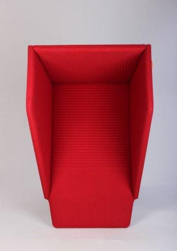 Lyddæmpende akustik boks rød