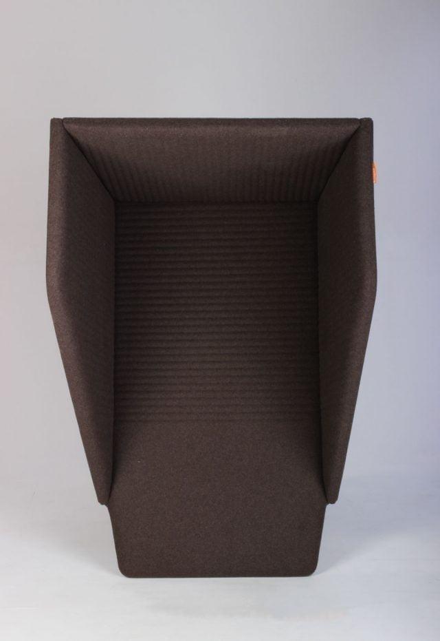 Lyddæmpende akustik boks brun