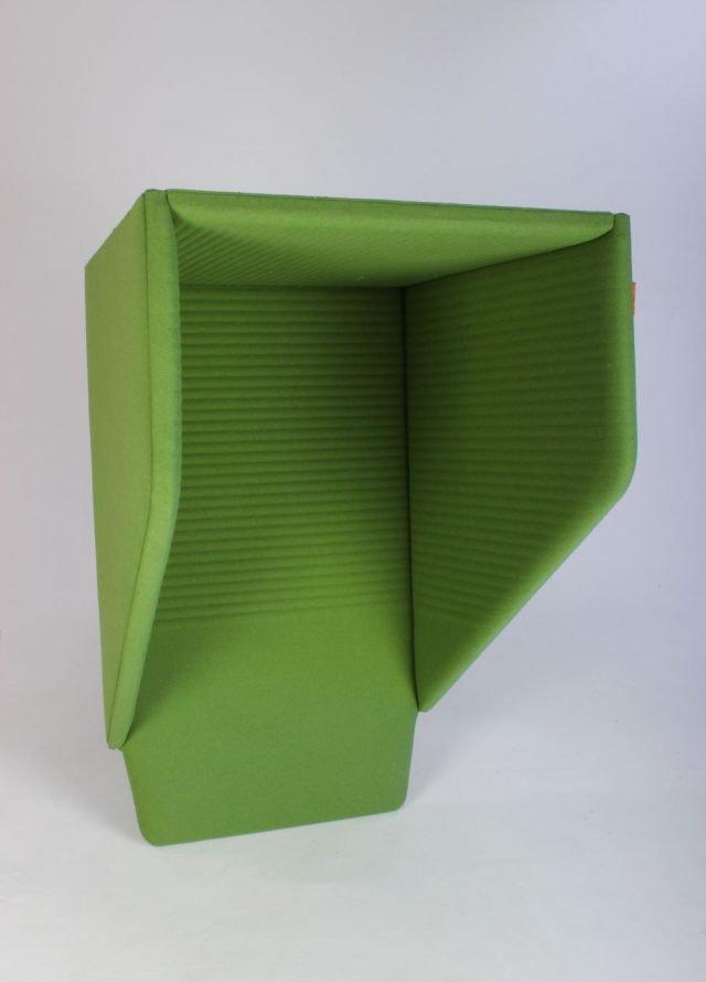 Lyddæmpende akustik boks grøn