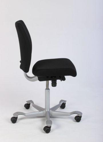 sort ergonomisk kontorstol
