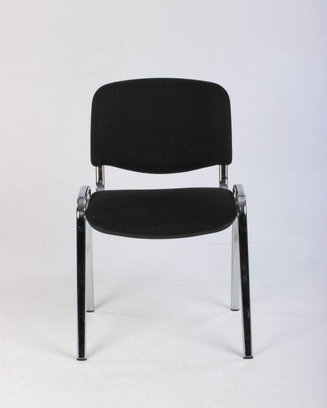 kantinestol mødestol sort