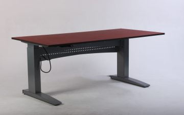 Bordeaux rødt hæve sænkebord