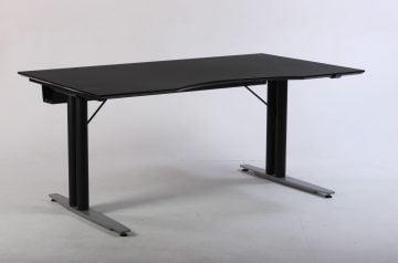Hæve sænkebord sort linoleum