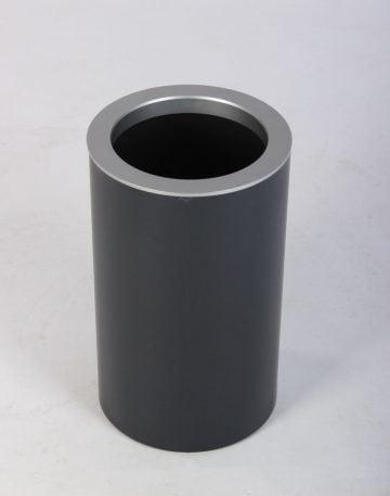 Helit sort papirkurv