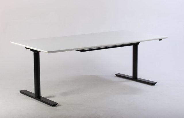 Hæve sænkebord hvid og sort