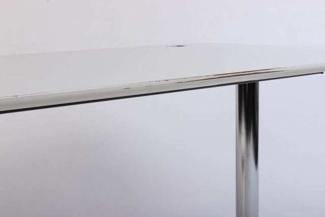 Hæve sænkebord hvid og krom