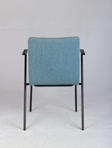 Blå spisebordsstol