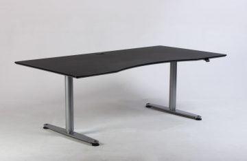 Sort og grå hæve sænkebord