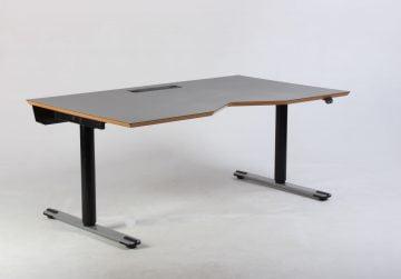 Dencon hæve sænkebord grå