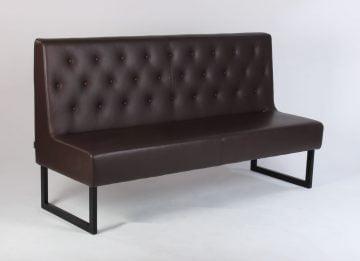 Brun læder sofa
