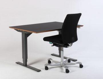 sæt hæve sænkebord og kontorstol