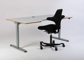 hæve sænkebord og kontorstol hjemmekontor